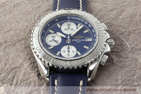 Used luxury watch Breitling Shark chronograph steel automatic Kal. B13 ETA 7750 Ref. A13054  | 142098 12