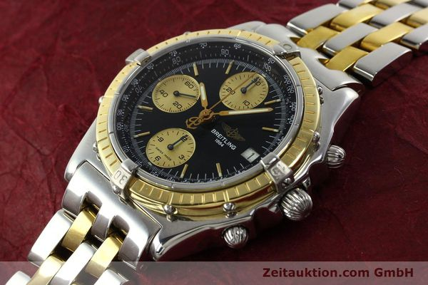 Used luxury watch Breitling Chronomat chronograph steel / gold automatic Kal. B13 ETA 7750 Ref. D13048  | 142100 01