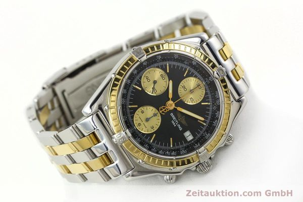 Used luxury watch Breitling Chronomat chronograph steel / gold automatic Kal. B13 ETA 7750 Ref. D13048  | 142100 03