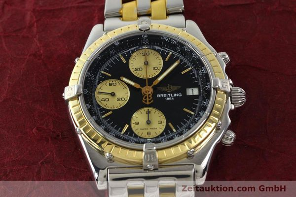 Used luxury watch Breitling Chronomat chronograph steel / gold automatic Kal. B13 ETA 7750 Ref. D13048  | 142100 15