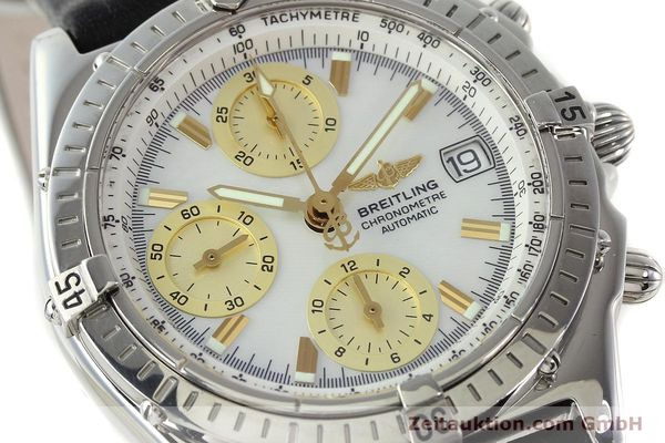 Used luxury watch Breitling Chronomat chronograph steel automatic Kal. B13 ETA 7750 Ref. A13050.1  | 142101 02