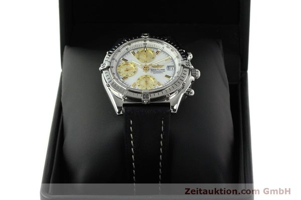 Used luxury watch Breitling Chronomat chronograph steel automatic Kal. B13 ETA 7750 Ref. A13050.1  | 142101 07