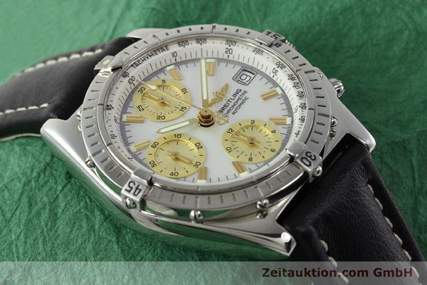 Used luxury watch Breitling Chronomat chronograph steel automatic Kal. B13 ETA 7750 Ref. A13050.1  | 142101 14