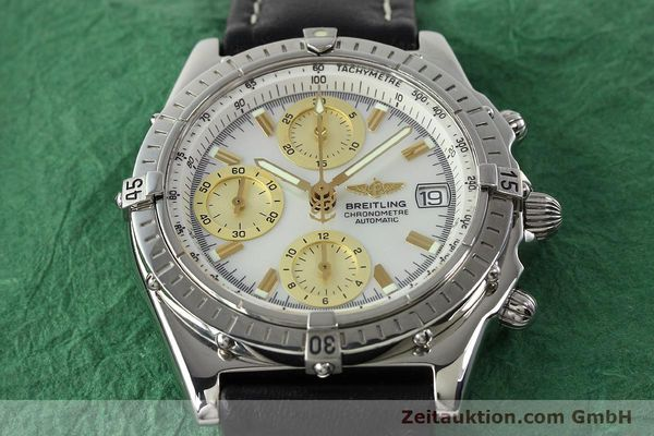 Used luxury watch Breitling Chronomat chronograph steel automatic Kal. B13 ETA 7750 Ref. A13050.1  | 142101 15
