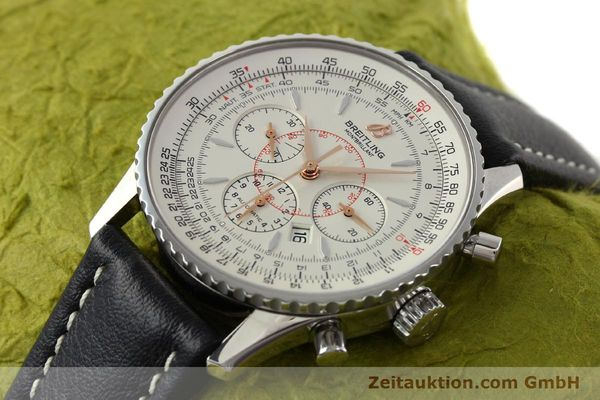 Used luxury watch Breitling Montbrillant chronograph steel automatic Kal. B41 ETA 2892A2 Ref. A41370  | 142102 01