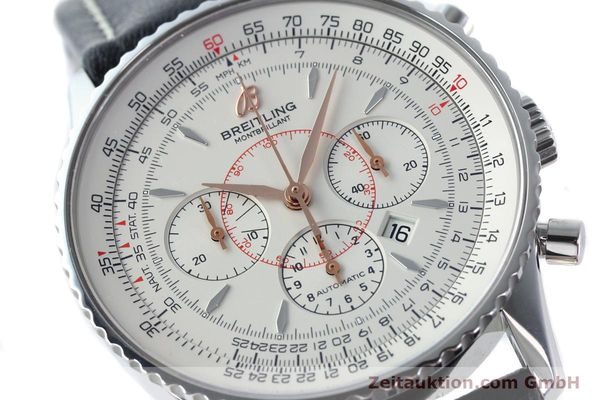 Used luxury watch Breitling Montbrillant chronograph steel automatic Kal. B41 ETA 2892A2 Ref. A41370  | 142102 02