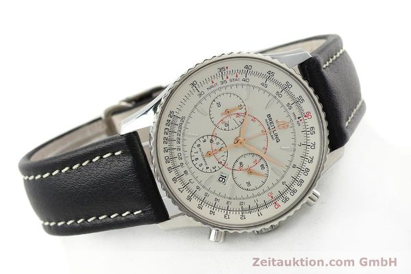 Used luxury watch Breitling Montbrillant chronograph steel automatic Kal. B41 ETA 2892A2 Ref. A41370  | 142102 03
