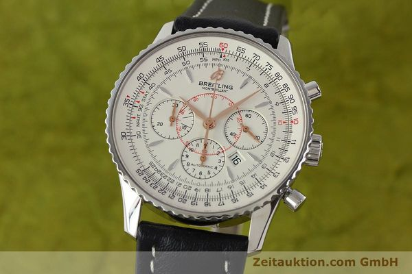 Used luxury watch Breitling Montbrillant chronograph steel automatic Kal. B41 ETA 2892A2 Ref. A41370  | 142102 04