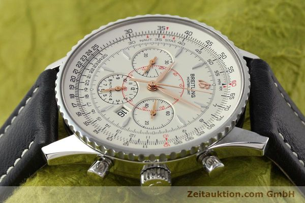 Used luxury watch Breitling Montbrillant chronograph steel automatic Kal. B41 ETA 2892A2 Ref. A41370  | 142102 05