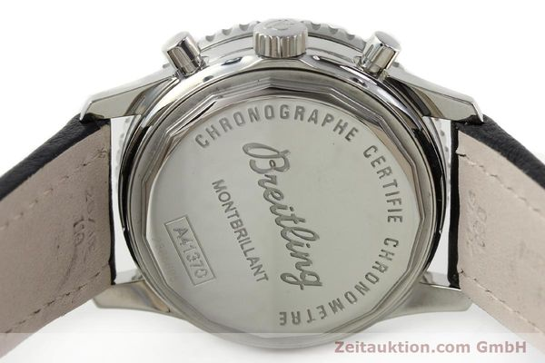 Used luxury watch Breitling Montbrillant chronograph steel automatic Kal. B41 ETA 2892A2 Ref. A41370  | 142102 09