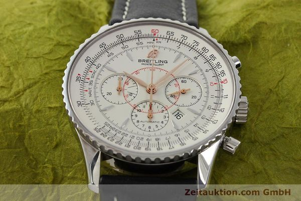 Used luxury watch Breitling Montbrillant chronograph steel automatic Kal. B41 ETA 2892A2 Ref. A41370  | 142102 14