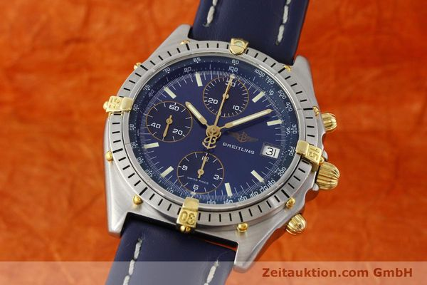 Used luxury watch Breitling Chronomat chronograph steel / gold automatic Kal. B13 VAL 7750 Ref. 81.950B13047  | 142121 04