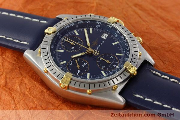 Used luxury watch Breitling Chronomat chronograph steel / gold automatic Kal. B13 VAL 7750 Ref. 81.950B13047  | 142121 13