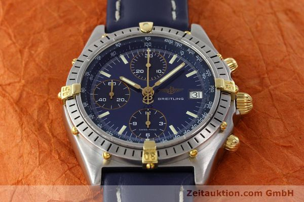 Used luxury watch Breitling Chronomat chronograph steel / gold automatic Kal. B13 VAL 7750 Ref. 81.950B13047  | 142121 14