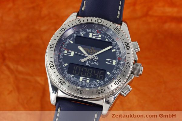 Used luxury watch Breitling B1 chronograph steel quartz Kal. B68 ETA E20.331 Ref. A68362  | 142123 04