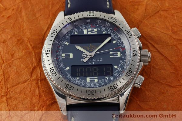 Used luxury watch Breitling B1 chronograph steel quartz Kal. B68 ETA E20.331 Ref. A68362  | 142123 12