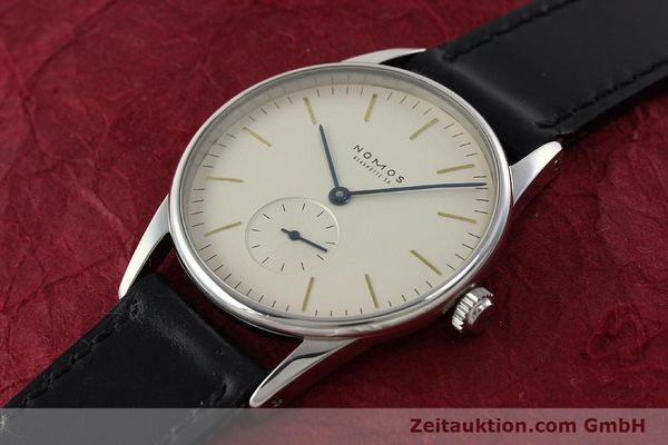 Used luxury watch Nomos Orion steel manual winding Kal. ETA 7001  | 142126 01