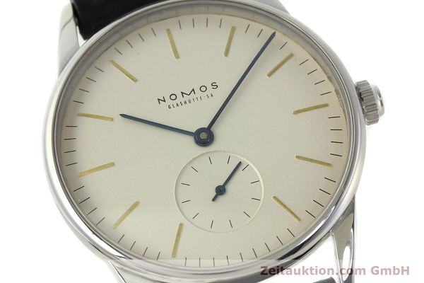 Used luxury watch Nomos Orion steel manual winding Kal. ETA 7001  | 142126 02