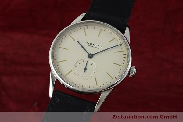 Used luxury watch Nomos Orion steel manual winding Kal. ETA 7001  | 142126 04