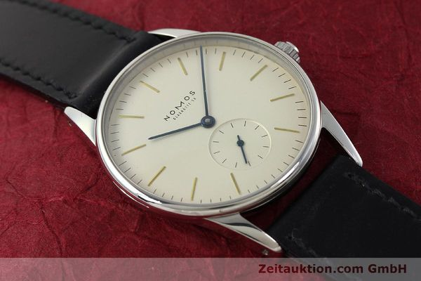 Used luxury watch Nomos Orion steel manual winding Kal. ETA 7001  | 142126 14
