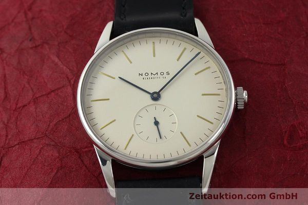 Used luxury watch Nomos Orion steel manual winding Kal. ETA 7001  | 142126 15