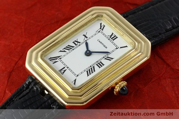 Used luxury watch Cartier * 18 ct gold manual winding Kal. 78-1 ETA 2512-1  | 142129 01