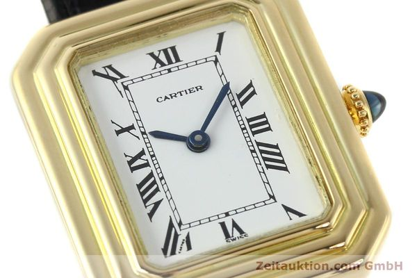 Used luxury watch Cartier * 18 ct gold manual winding Kal. 78-1 ETA 2512-1  | 142129 02