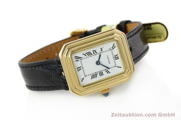 Used luxury watch Cartier * 18 ct gold manual winding Kal. 78-1 ETA 2512-1  | 142129 03