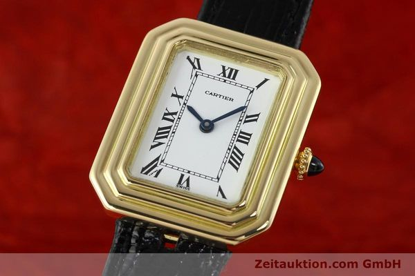 Used luxury watch Cartier * 18 ct gold manual winding Kal. 78-1 ETA 2512-1  | 142129 04