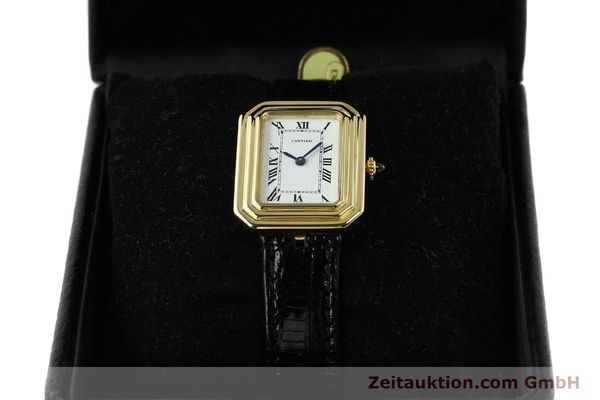 Used luxury watch Cartier * 18 ct gold manual winding Kal. 78-1 ETA 2512-1  | 142129 07