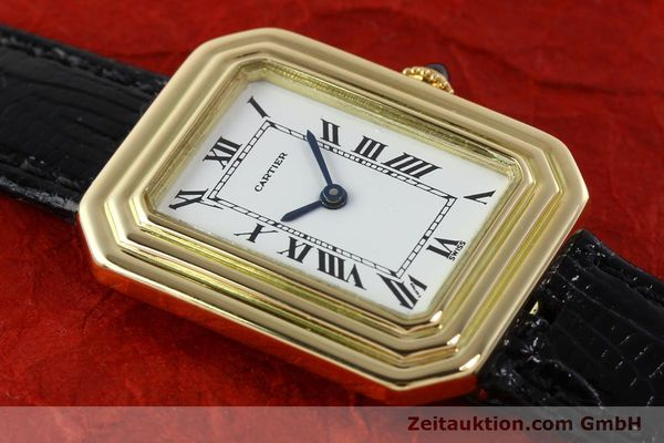 Used luxury watch Cartier * 18 ct gold manual winding Kal. 78-1 ETA 2512-1  | 142129 14