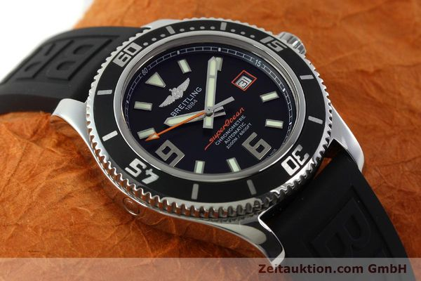 Used luxury watch Breitling Superocean steel automatic Kal. B17 ETA 2824-2 Ref. A17391  | 142136 17