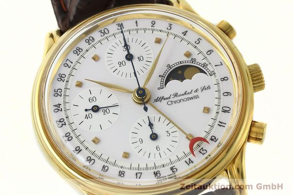 Used luxury watch Chronoswiss A. Rochat chronograph gold-plated automatic Kal. VAL 7750 Ref. 77990  | 142139 02