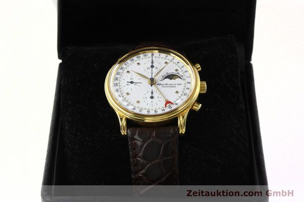 Used luxury watch Chronoswiss A. Rochat chronograph gold-plated automatic Kal. VAL 7750 Ref. 77990  | 142139 07