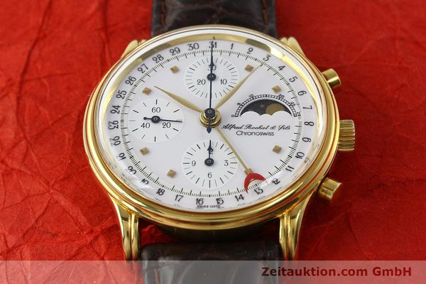 Used luxury watch Chronoswiss A. Rochat chronograph gold-plated automatic Kal. VAL 7750 Ref. 77990  | 142139 13