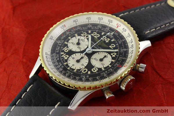 Used luxury watch Breitling Navitimer chronograph steel / gold manual winding Kal. LWO 1873 Ref. 81600  | 142141 01