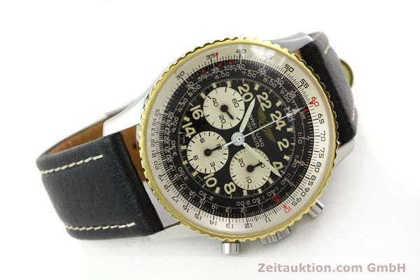 Used luxury watch Breitling Navitimer chronograph steel / gold manual winding Kal. LWO 1873 Ref. 81600  | 142141 03