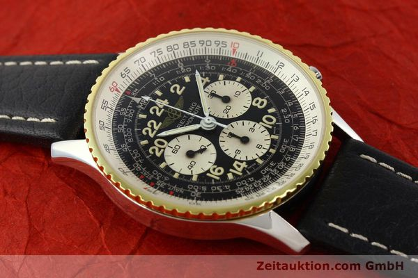 Used luxury watch Breitling Navitimer chronograph steel / gold manual winding Kal. LWO 1873 Ref. 81600  | 142141 14