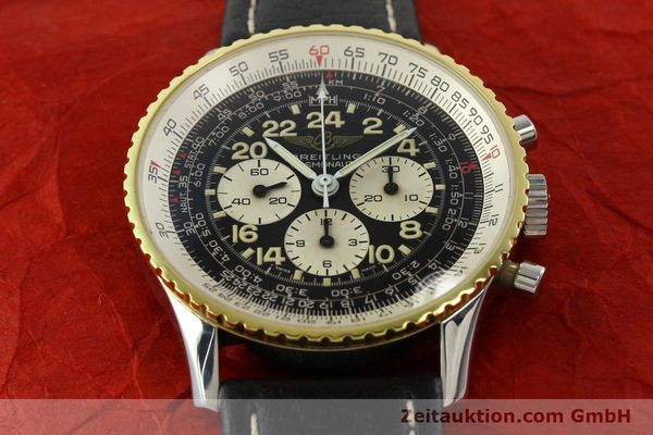 Used luxury watch Breitling Navitimer chronograph steel / gold manual winding Kal. LWO 1873 Ref. 81600  | 142141 15