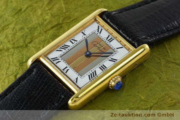 Used luxury watch Cartier Tank silver-gilt quartz Kal. 90  | 142142 01