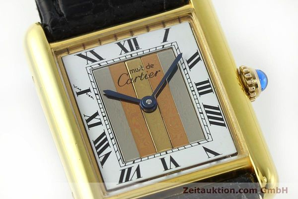 Used luxury watch Cartier Tank silver-gilt quartz Kal. 90  | 142142 02