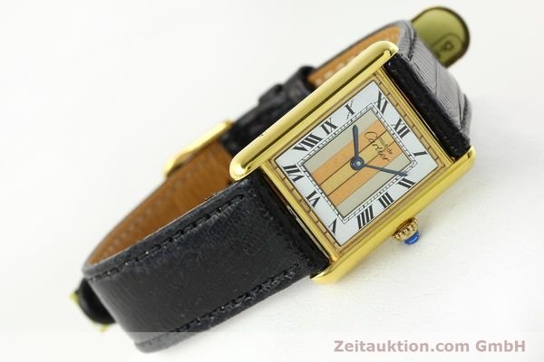 Used luxury watch Cartier Tank silver-gilt quartz Kal. 90  | 142142 03