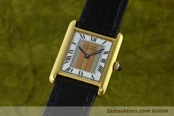 Used luxury watch Cartier Tank silver-gilt quartz Kal. 90  | 142142 04