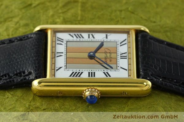 Used luxury watch Cartier Tank silver-gilt quartz Kal. 90  | 142142 05