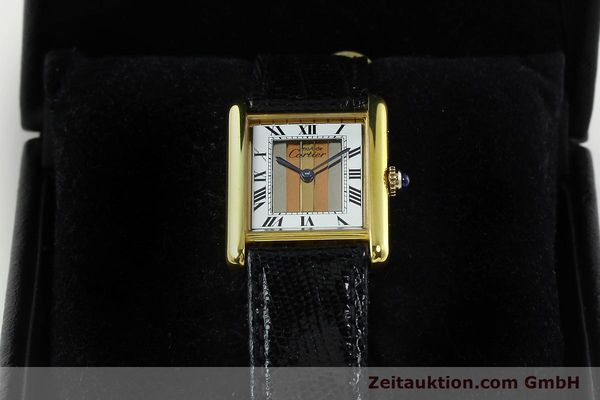 Used luxury watch Cartier Tank silver-gilt quartz Kal. 90  | 142142 07