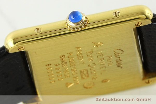 Used luxury watch Cartier Tank silver-gilt quartz Kal. 90  | 142142 08