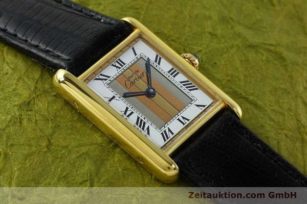 Used luxury watch Cartier Tank silver-gilt quartz Kal. 90  | 142142 11