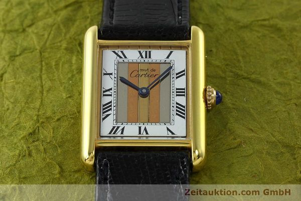 Used luxury watch Cartier Tank silver-gilt quartz Kal. 90  | 142142 12