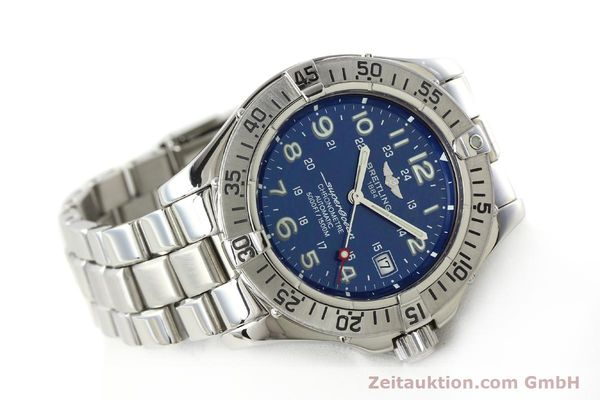 Used luxury watch Breitling Superocean steel automatic Kal. B17 ETA 2824-2 Ref. A17360  | 142144 03