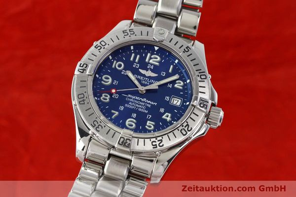 Used luxury watch Breitling Superocean steel automatic Kal. B17 ETA 2824-2 Ref. A17360  | 142144 04